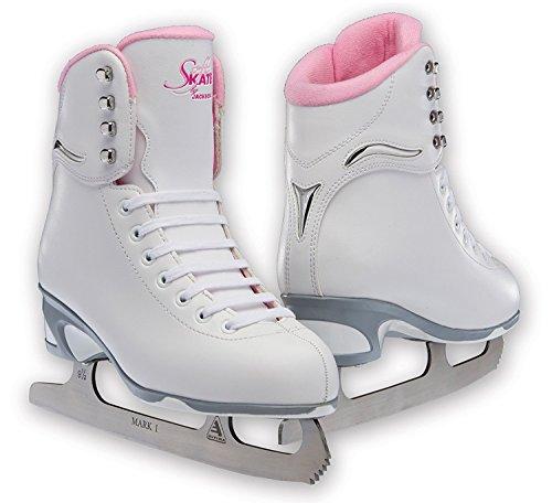 Jackson JS 181 SoftSkate Girls Figure Ice Skates (Pink, 3)