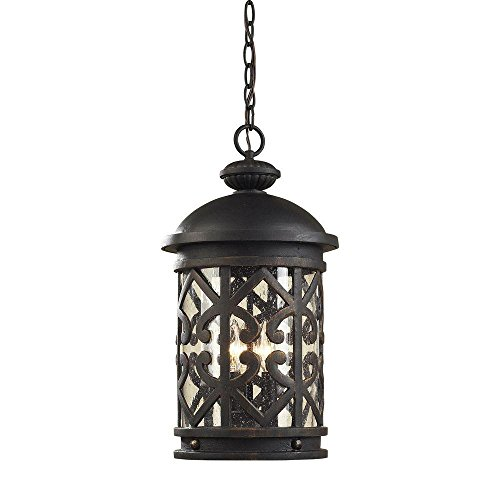 (Titan Lighting Tuscany Coast 3-Light Weathered Charcoal Outdoor Hanging Pendant)