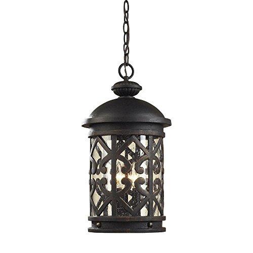 - Titan Lighting Tuscany Coast 3-Light Weathered Charcoal Outdoor Hanging Pendant