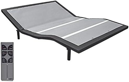 BEDBOSS Maximize 604 Adjustable Full Motion Zero Gravity Motorized Bed Base Heavy Duty Steel Frame Relaxing Dual Massage Wireless Remote Mattress Retention Rail for Bedroom Full
