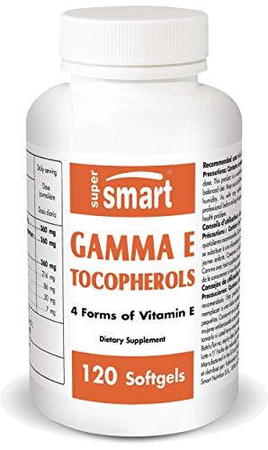 Supersmart – Gamma E Tocopherol – 4 Form of Vitamin E Including d-Alpha, d-Delta & d-Beta Tocopherols – Anti Aging…