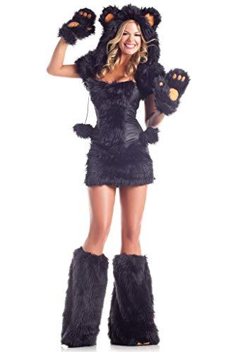 Sexy Bear Adult Costume Black Bear - Medium/Large
