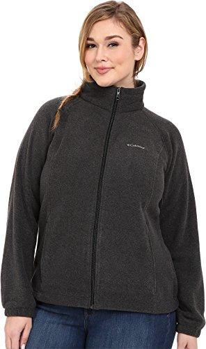 Columbia Women's Plus-Size Benton Springs Full Zip Plus, Charcoal Heather, 3X