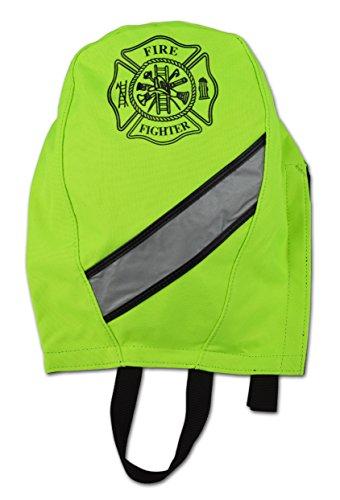 Lightning X Fireman's SCBA Air Pak Respirator Firefighter Mask Face Piece Bag for First Responder (Fluorescent (Lightning Mask)