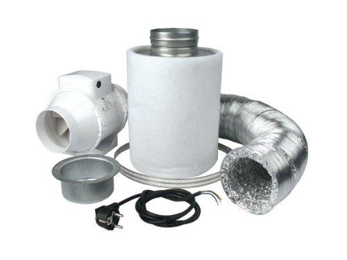 Ventilution Lüftungsset 160 Deluxe, inkl. Ventilution Mixed In-Line, 145/187 m³/h und Zubehör