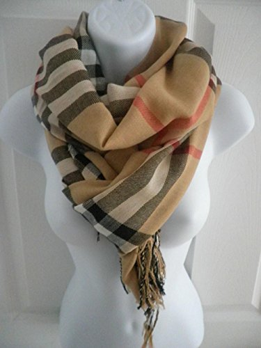 Brown_(US SELLER) Men Women Winter Warm Soft Scarf Stole Wrap Shawl 76
