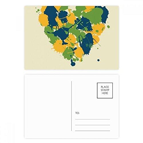 Heart-shaped My Lovely Brazil Brazil Postcard Set Birthday Thanks Card Mailing Side 20pcs ()