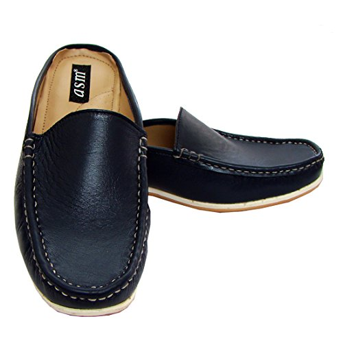 438662cf64b7c ... Fleece Lining). hot sale 2017 Genuine Blue Nappa Leather Slipon Loafers  For Men ( Ultra Comfort PU Insoles