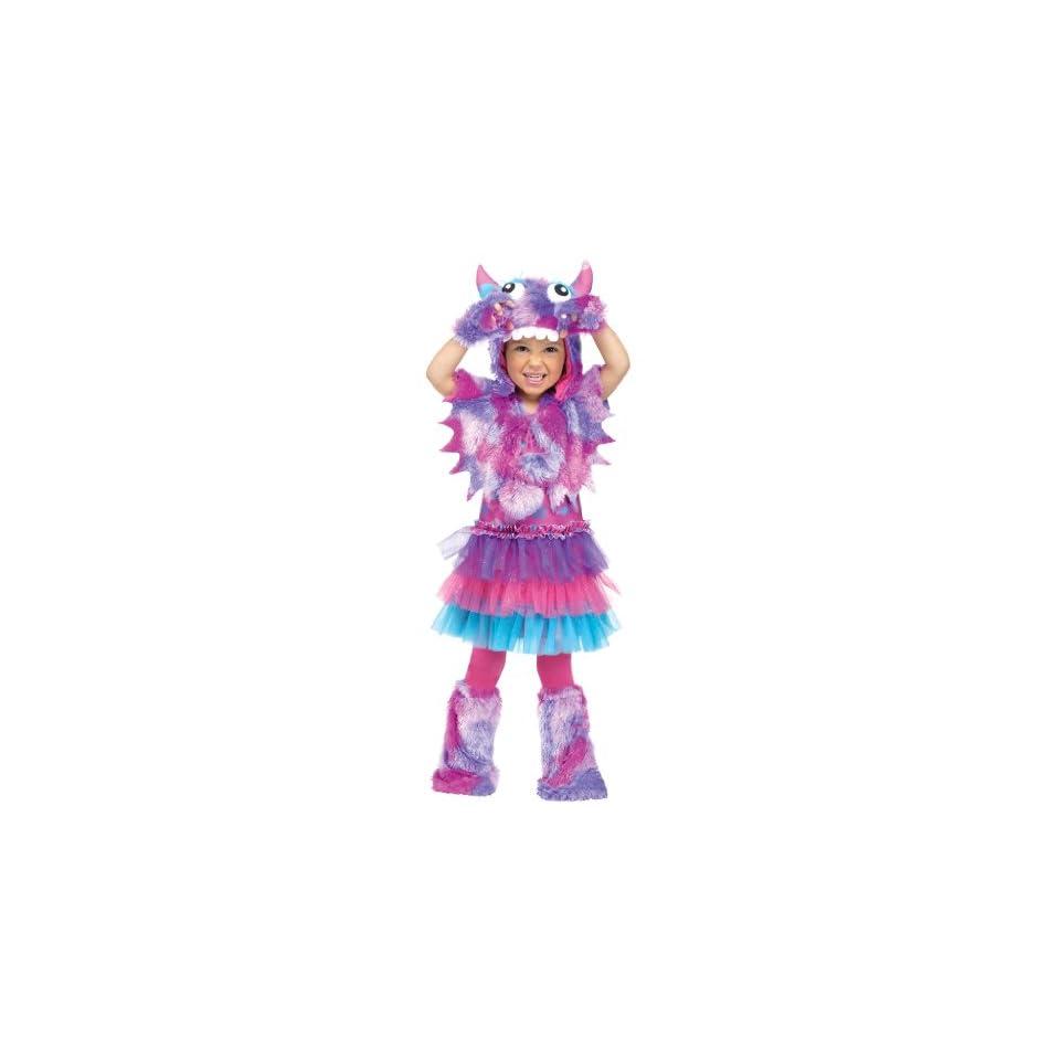 Fun World Costumes Baby Girls Polka Dot Monster Toddler Costume, Pink/Blue, Small