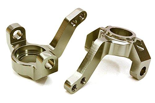 Integy RC Model Hop-ups OBM-1206GUN CNC Machined Alloy Steering Blocks for Axial 1/10 SCX-10 Honcho & Dingo - Integy Alloy Steering Block