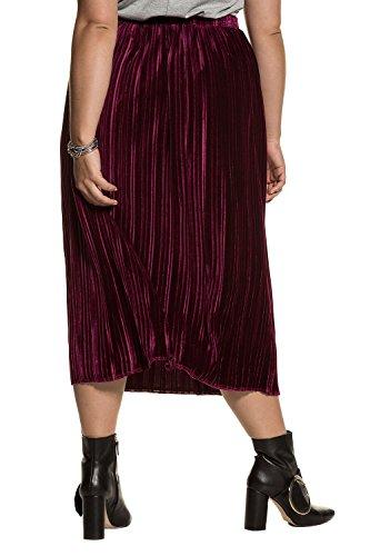 Ulla Jupe Plage avec Casual Popken Deux 713253 Grandes Maxi Tailles Jupe Vin Rouge Pliss Femme Femme de Haute Belted Longue Poches Taille OFqxrOawZ