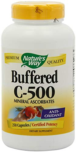 - Natures Way Buffered C-500 Capsules - 250 Ea, 3 Pack