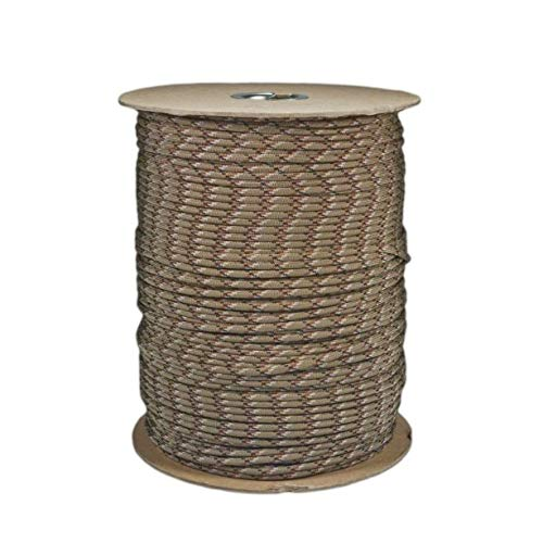 SGT KNOTS Paracord 550 Type III 7 Strand - 100% Nylon Core and Shell 550 lb Tensile Strength Utility Parachute Cord for Crafting, Tie-Downs, Camping, Handle Wraps (Desert Camo - 25 ft)