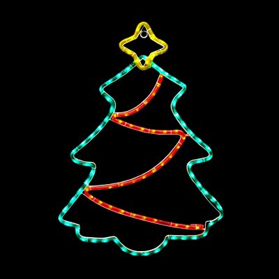 Led Christmas Tree With Twinkling Garland Outdoor Lightstrings
