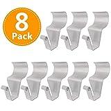 Vinyl Siding Hooks for Hanging, Heavy Duty Light Mailbox Planter Hanger 8 Pack