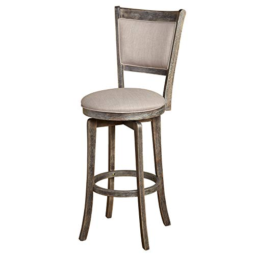 Target Marketing Systems French Home Kitchen Upholstered Swivel Barstool, 30