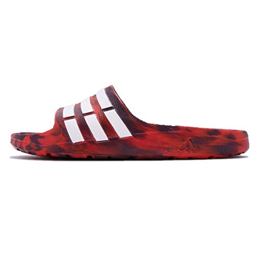 Diapositiva Adidas Uomo Duramo, Rosso / Viola, 4,5 M Us