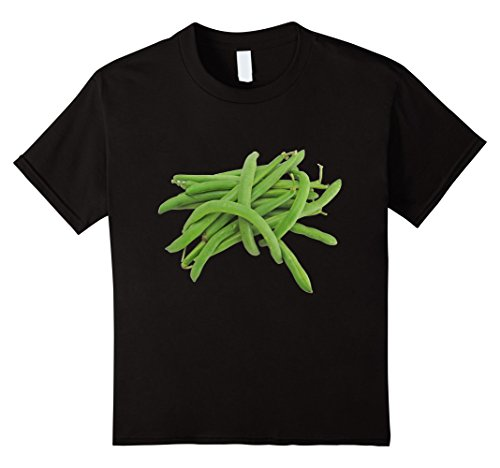 Kids String Beans t-shirt Green Veggie Vegetable Casserole Dish 10 Black