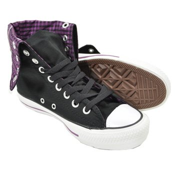 2e25c2d48adcb0 Converse Knee High Design Boots (Black Purple) - 7 UK  Amazon.co.uk ...