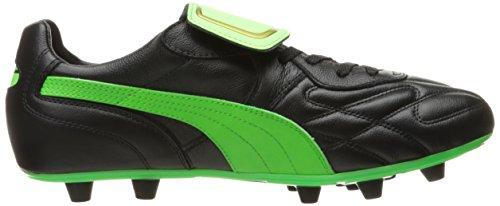 Pumas Mens Roi Haut Mii Chaussure De Football Fg Pumas Gecko Noir / Vert / Or