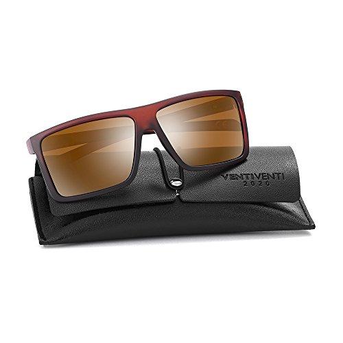 2020Ventiventi Classic Polarized Sunglasses for Men Square Lens Full Frame PL273