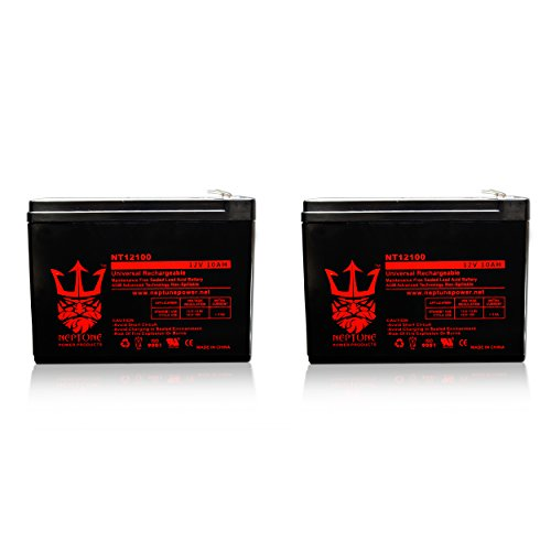 12V 10AH Replacement for SHOPRIDER ECHO 3 SL73 BATTERY by Neptune - 2 Pack