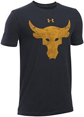 Under Armour x Project Rock Brahma Bull T-Shirt Sz Small Mens Gray 1361141-035