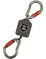 Ergodyne Squids 3003 Retractable Tool Lanyard with Two Locking Carabiners, Swivel Design , Gray