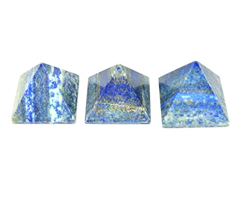 Lapis Lazuli Pyramid Reiki Healing Pyramid 3-pcs Set for Meditation Vastu Reiki ()