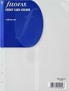 Filofax - Funda para tarjetas de crédito (tamaño A5)
