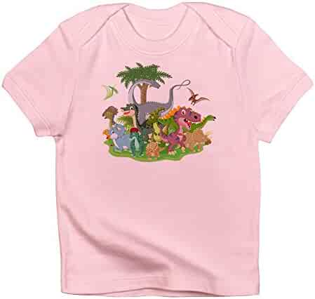 3 To 6 Months Sky Blue Truly Teague Long Sleeve Infant T-Shirt Dinosaur Playing Soccer