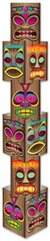 Beistle 54073 Tiki Column, 12-Inch by 5-Feet 71/4-Inch
