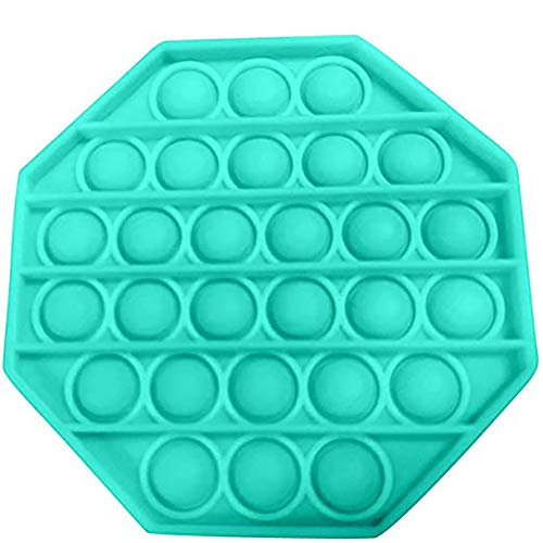 Insuwun 1x Push Bubble Sensory Fidget Toy Stress Reliever Educational Toys for Children and Adults (Sky Blue - Octagon)