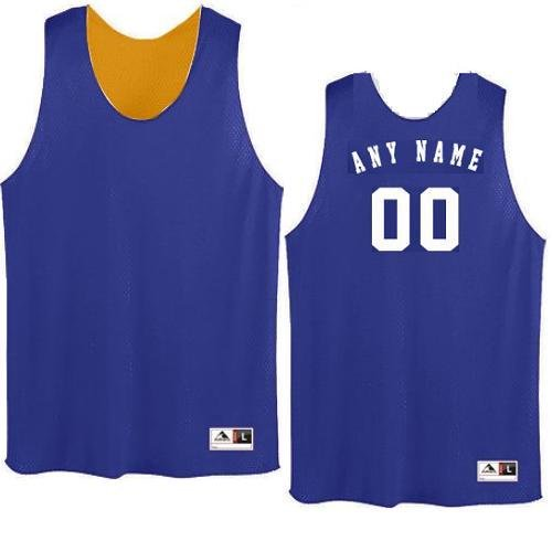 2f49c0042a74c8 Purple Gold Adult Large Customized (Any Name and or Number) Basketball Reversible  Tricot Mesh Polyester Tank Jersey Shirts