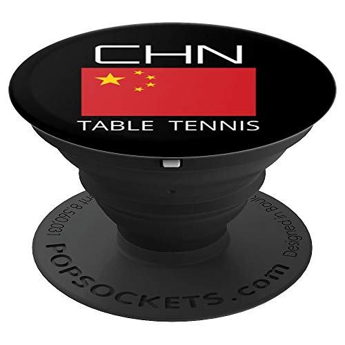 China Table Tennis Chinese Ping Pong Athlete CHN Flag Pride PopSockets Grip and Stand for Phones and Tablets (Best Tennis Game For Android)
