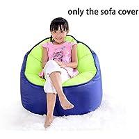 QuWei Childrens Sofa Chair Print Filling Bean Bags DIY Sofa Cloth Sets (Navy blue)