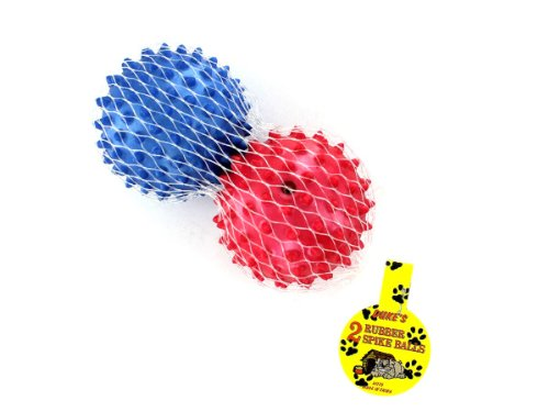 Bulk Buys DI176-48 Multi Color Rubber Spike Dog Balls - Case of 48