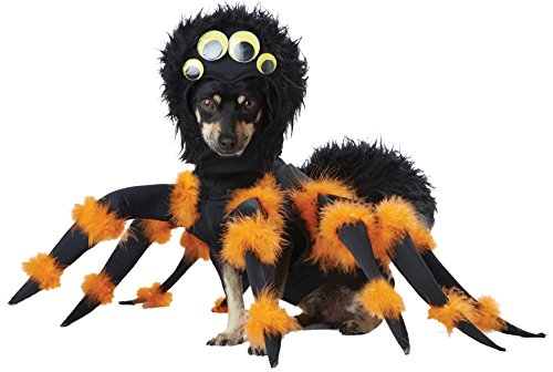 [UHC Comical Spider Outfit Funny Theme Fancy Dress Halloween Pet Dog Costume, L] (Dog Spider Outfit)