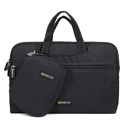 Laptop Bag, Evecase 11.6 - 12 Inch WaterProof Extra Paded interior Tablet / Laptop Universal Sleeve Bag Carrying Case Briefcase with Handle + Pouch Case and Mouse Pad - Black ()