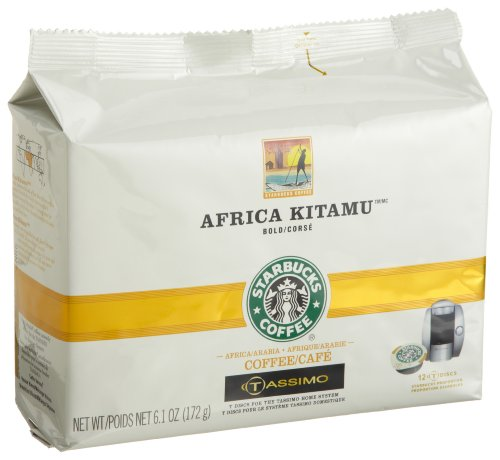 Starbucks Africa Kitamu Coffee (Reckless), 12-Count T-Discs for Tassimo Coffeemakers (Pack of 2)