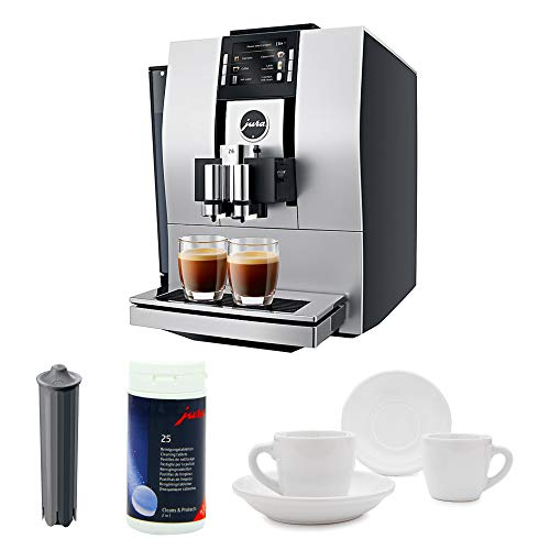 Jura 15093 Automatic Coffee Machine Z6, Aluminum Includes Smart Filter Cartridge, Cleaning Tablets and Set of Two Espresso Cups (Jura A1 Bean To Cup Coffee Machine)