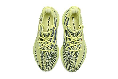 Bernard Bush Boost 350 V2 Mannen Sneakers Vrouwen Unisex Loopschoenen Ademende Gebreide Kant Schoenen Zebra Serie Geel / Rood