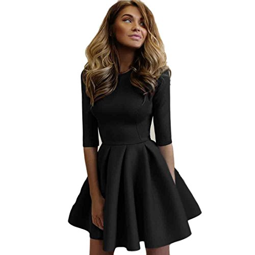 Women Dress,Laimeng Women Ladies Sexy Slim Bodycon Bandage Club Party Cocktail Dresses (XL, - Boatneck Print Dress