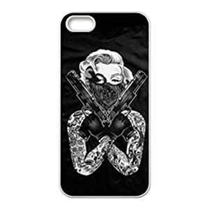 2429439M391024736 For Iphone 5C Phone Case Cover with Marilyn Monroe tattoo design Hard case