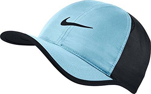 Nike NikeCourt AeroBill Featherlight Tennis Cap Vivid Sky/Black/Black/Black Caps