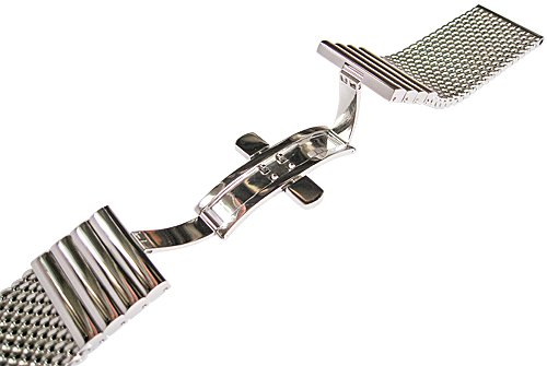 Staib 24mm Polished Mesh LONG 170mm Stainless Steel Mens Watch Band Model 2792 by Staib (Image #2)
