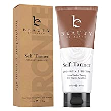 Beauty by Earth Self Tanner Sunless Tanning Lotion with Organic and Natural Ingredients for Body and face, 7.5 oz