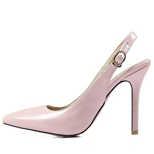 AicciAizzi Light Slingback Bombas Pink Stiletto Mujer Moda Zapatos fUYqBrfy