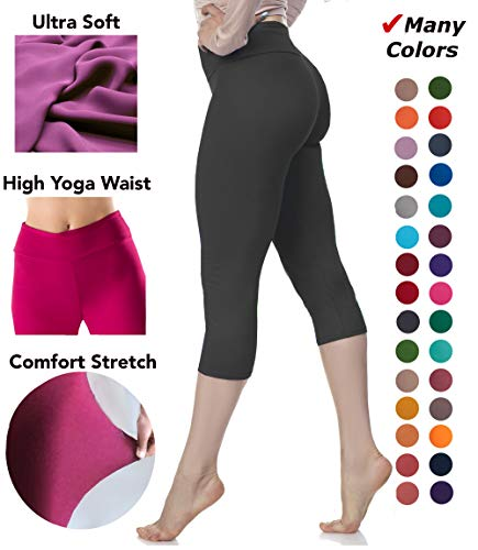 Lush Moda Extra Soft Stretch Pants Leggings - Variety of Colors - Black