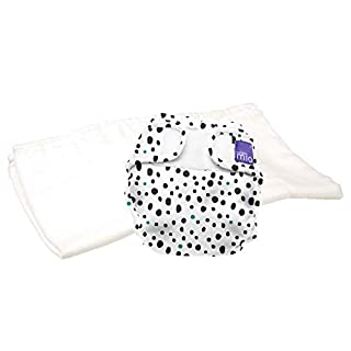 Bambino Mio, mioduo Two-Piece Cloth Diaper, Dalmatian dots, Size 2 (21lbs+)